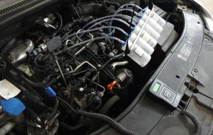 kontrola přepadu paliva